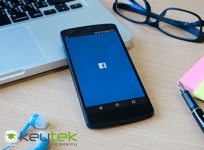 facebook for locksmiths smart phone on desk