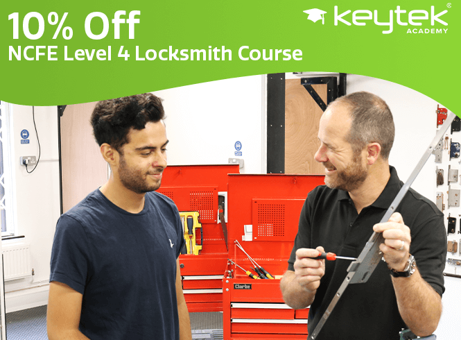10% off Our NCFE Level 4 Locksmith Course